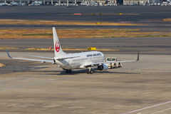 JAL at HANEDA Airport Stock Image