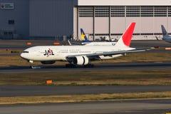 JAL Landing Royalty-vrije Stock Foto