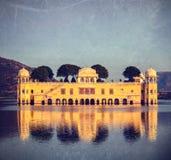 Jal Mahal (дворец воды).  Джайпур, Раджастхан, Индия стоковые фотографии rf