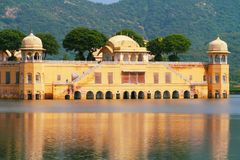 Jal Mahal. Close up view of Jal Mahal with Aravali hills in background Stock Photography