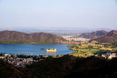 Jal Mahal jaipur from Nargarh fort. View of the Jal Mahal (water palace) from the Nargarh fort. This was used by the king of Jaipur as a summer retreat Royalty Free Stock Photography