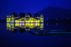 Jal Mahal, Jaipur. A view of Jal Mahal at night, Jaipur, Rajasthan, India Stock Images