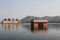 Jal Mahal on Man Sagar Lake Stock Image