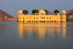 Jal Mahal and Man Sagar Lake in Jaipur, Rajasthan, India. Stock Photos