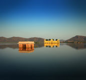 Jal mahal - palace on lake in Jaipur India Stock Image