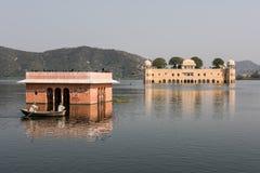 Jal Mahal Palace in Rajasthan. Jal Mahal on the Man Sagar lake in Jaipur, Rajasthan. Built infusing Mughal and Rajput architecture, this palace looks stunning Stock Photo