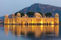 Jal Mahal Palace Stock Photography