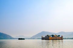 Jal Mahal vattenslotten, Indien Royaltyfri Bild