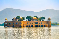 Jal Mahal Water Palace, Jaipur, Rajasthan, India. The Water Palace in the middle of Mansagar Lake Royalty Free Stock Photos