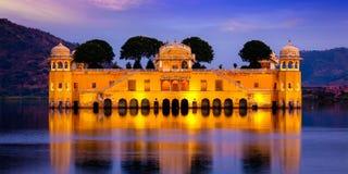 Jal Mahal Water Palace.  Jaipur, Rajasthan, India Stock Photography