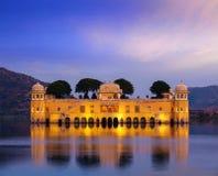 Jal Mahal wody pałac (Wodny pałac) Jaipur, Rajasthan, India obrazy stock