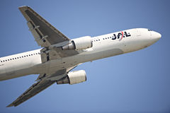 JAL Passenger Aircraft Royalty Free Stock Photography