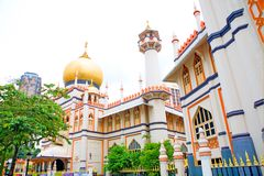 jalan清真寺新加坡苏丹 免版税库存图片