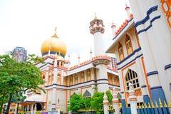 jalan σουλτάνος Σινγκαπούρης μουσουλμανικών τεμενών Στοκ εικόνα με δικαίωμα ελεύθερης χρήσης