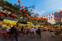 Jalan Alor em Kuala Lumpur, Malásia Fotos de Stock