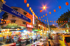 Jalan Alor in Kuala Lumpur, Maleisië Stock Fotografie