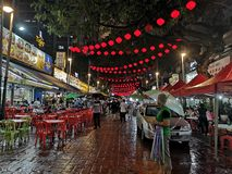 Jalan Alor street food area in Bukit Bitang, Kuala Lumpur, Malaysia