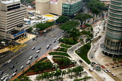 Jalan Ampang,吉隆坡,马来西亚。 免版税库存图片