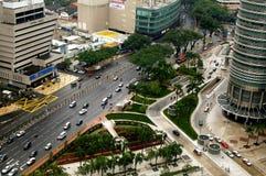Jalan Ampang, Kuala Lumpur, Malesia. Immagine Stock Libera da Diritti