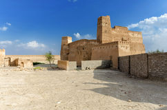 Jalan Bani Bu Ali Fort. Ruins of the old arabic fort, located in the town of Jalan Bani Bu Ali, Ash Sharqiyah Region, Sultanate of Oman Royalty Free Stock Image