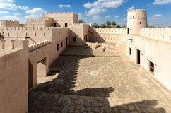 Jalan Bani Bu Hassan Fort. The 13th century renovated fort, Sultanate of Oman Royalty Free Stock Image