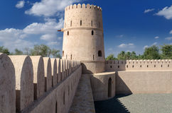 Jalan Bani Bu Hassan Fort. The 13th century renovated fort, Sultanate of Oman Stock Images