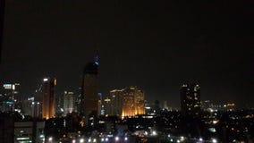 Jalan Sudirman Jakarta. Night view of skyscrapers on Jalan Jenderal Sudirman Jakarta Indonesia Stock Images