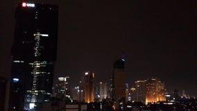 Jalan Sudirman Jakarta. Night view of skyscrapers on Jalan Jenderal Sudirman Jakarta Indonesia Stock Photography