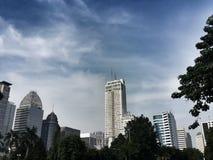 Jalan Sudirman Jakarta. Tall buildings on Jalan Jenderal Sudirman Jakarta, Indonesia Stock Images
