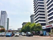 Jalan Thamrin Jakarta. Busy traffic on Jalan Thamrin Jakarta, Indonesia Royalty Free Stock Photos