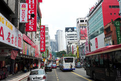 Jalan Tuanku Abdul Rahman, Kuala Lumpur Immagine Stock