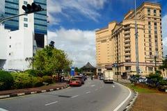 Jalan Tunku Abdul Rahman road in Kuching Royalty Free Stock Image