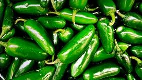 Jalapeño pieprze, zieleń, wiązki, od rynku zdjęcie stock