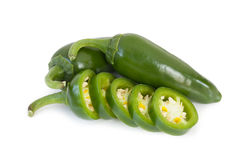 Jalapeños Chili Peppers of Mexicaanse Spaanse peperpeper Stock Afbeelding