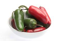 Jalapeño and cuaresmeño chili Stock Photography