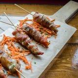 Jalapeno avvolto bacon fotografia stock