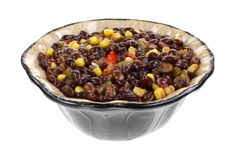 Jalapeno Black Bean Soup In Bowl Royalty Free Stock Image