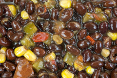 Jalapeno Black Bean Soup Close View Stock Photo