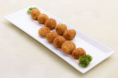 Jalapeno cheese balls. Mexican cuisine Jalapeno cheese balls royalty free stock photography