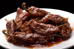 Jalapeno fumé de sauce à Adobo d'en de Chipotle Photo libre de droits
