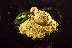 Jalapeno Green Chilli Powder Royalty Free Stock Image