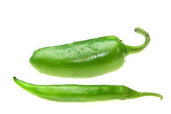 Jalapeno and green thai pepper Stock Photos