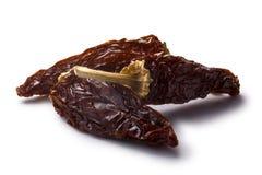 Jalapeno morita-fumé de Chipotle, chemins images stock