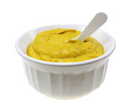 Jalapeno Mustard Bowl Spoon Stock Photography