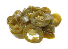 Jalapeno Pepper Slices Group Stock Photography