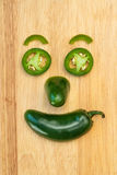 Jalapeno pepper smiling face Stock Photos