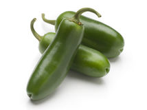 Jalapeno peppers. Fresh raw jalapeno peppers on white background Stock Photo