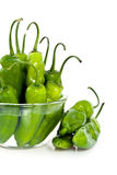 Jalapeno peppers in bowl Stock Image