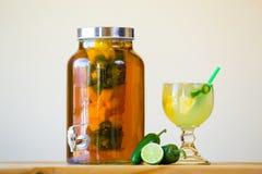 Jalapeno pieprz Natchnący Tequila zdjęcia royalty free
