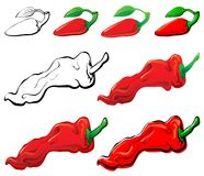 Free Jalapeno & Red Pepper Royalty Free Stock Photography - 6834497